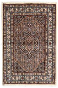 Moud Dywan 98X147 Orientalny Tkany Ręcznie Ciemnobrązowy/Ciemnoczerwony (Wełna/Jedwab, Persja/Iran)