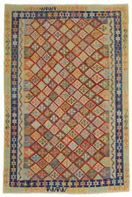 Kilim Afgan Old Style Dywan 204X302 Orientalny Tkany Ręcznie Ciemnoszary/Jasnoszary (Wełna, Afganistan)