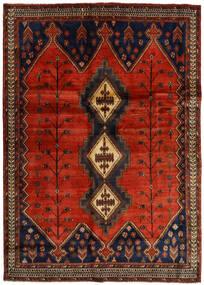 Afszar Dywan 176X248 Orientalny Tkany Ręcznie Ciemnobrązowy/Rdzawy/Czerwony (Wełna, Persja/Iran)
