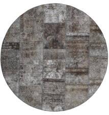 Patchwork - Persien/Iran Dywan Ø 200 Nowoczesny Tkany Ręcznie Okrągły Ciemnoszary/Jasnoszary (Wełna, Persja/Iran)