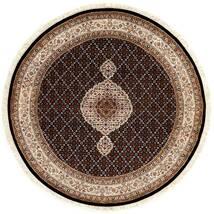 Tebriz Royal Dywan Ø 151 Orientalny Tkany Ręcznie Okrągły Ciemnoczerwony/Brązowy ( Indie)