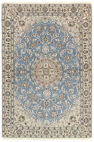 Nain 9La Dywan 118X177 Orientalny Tkany Ręcznie Jasnoszary/Beżowy (Wełna/Jedwab, Persja/Iran)