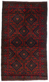 Beludż Dywan 110X180 Orientalny Tkany Ręcznie Ciemnobrązowy/Ciemnoczerwony (Wełna, Afganistan)