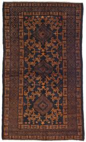 Beludż Dywan 100X180 Orientalny Tkany Ręcznie Ciemnobrązowy (Wełna, Afganistan)