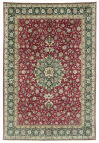 Tebriz 50 Raj Dywan 245X362 Orientalny Tkany Ręcznie Ciemnoszary/Ciemnoczerwony (Wełna, Persja/Iran)