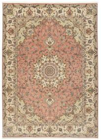 Tebriz 50 Raj Dywan 250X348 Orientalny Tkany Ręcznie Jasnobrązowy/Beżowy Duży (Wełna/Jedwab, Persja/Iran)
