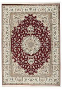 Tebriz 50 Raj Z Dodatkiem Jedwabiu Dywan 248X347 Orientalny Tkany Ręcznie Jasnoszary/Ciemnoczerwony (Wełna/Jedwab, Persja/Iran)