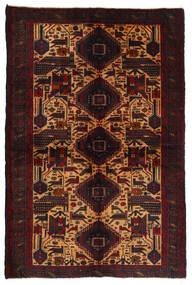 Beludż Dywan 118X170 Orientalny Tkany Ręcznie Ciemnobrązowy/Ciemnoczerwony (Wełna, Afganistan)