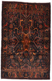 Beludż Dywan 125X195 Orientalny Tkany Ręcznie Czarny/Ciemnoczerwony (Wełna, Afganistan)