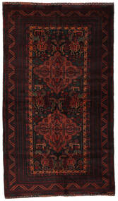 Beludż Dywan 116X206 Orientalny Tkany Ręcznie Ciemnobrązowy/Ciemnoczerwony (Wełna, Afganistan)