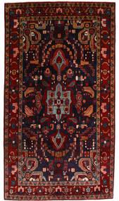 Nahawand Dywan 142X255 Orientalny Tkany Ręcznie Ciemnoczerwony (Wełna, Persja/Iran)