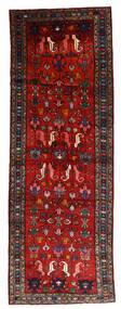 Hamadan Dywan 108X304 Orientalny Tkany Ręcznie Chodnik Ciemnoczerwony/Rdzawy/Czerwony/Czarny (Wełna, Persja/Iran)