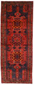Hamadan Dywan 112X289 Orientalny Tkany Ręcznie Chodnik Ciemnoczerwony/Ciemnobrązowy (Wełna, Persja/Iran)