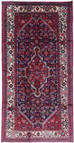 Asadabad Dywan 130X255 Orientalny Tkany Ręcznie Fioletowy/Ciemnoczerwony (Wełna, Persja/Iran)