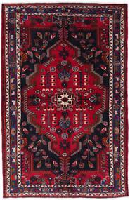 Nahawand Dywan 130X201 Orientalny Tkany Ręcznie Czarny/Ciemnoczerwony (Wełna, Persja/Iran)