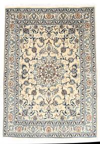 Nain Dywan 147X210 Orientalny Tkany Ręcznie Jasnoszary/Beżowy (Wełna, Persja/Iran)