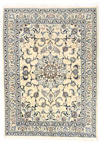 Nain Dywan 150X210 Orientalny Tkany Ręcznie Beżowy/Jasnoszary (Wełna, Persja/Iran)