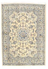 Nain Dywan 148X205 Orientalny Tkany Ręcznie Beżowy/Jasnoszary (Wełna, Persja/Iran)