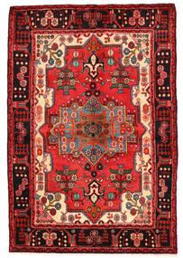 Nahawand Dywan 136X200 Orientalny Tkany Ręcznie Ciemnoczerwony/Czarny (Wełna, Persja/Iran)