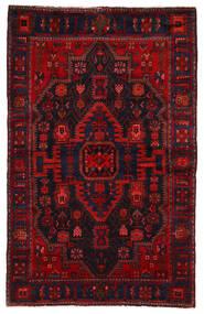 Nahawand Dywan 142X225 Orientalny Tkany Ręcznie Ciemnoczerwony/Rdzawy/Czerwony (Wełna, Persja/Iran)
