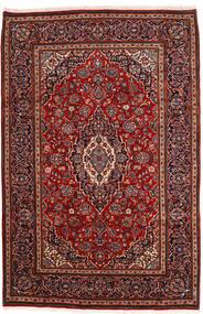 Keszan Dywan 198X302 Orientalny Tkany Ręcznie Ciemnoczerwony (Wełna, Persja/Iran)