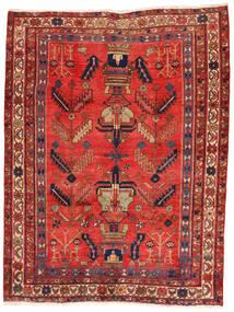 Afszar/Sirjan Dywan 162X217 Orientalny Tkany Ręcznie Ciemnoczerwony/Rdzawy/Czerwony (Wełna, Persja/Iran)