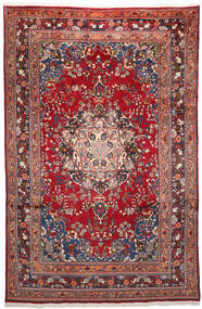 Meszhed Dywan 200X303 Orientalny Tkany Ręcznie Ciemnoczerwony/Ciemnofioletowy (Wełna, Persja/Iran)