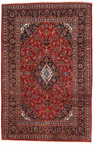 Keszan Dywan 195X294 Orientalny Tkany Ręcznie Ciemnoczerwony/Czarny (Wełna, Persja/Iran)