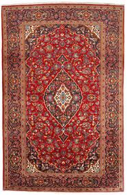 Keszan Dywan 200X309 Orientalny Tkany Ręcznie Ciemnoczerwony/Rdzawy/Czerwony (Wełna, Persja/Iran)