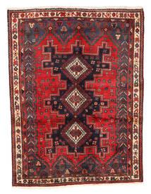 Afszar Dywan 125X167 Orientalny Tkany Ręcznie Ciemnoczerwony/Ciemnobrązowy (Wełna, Persja/Iran)
