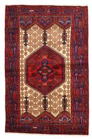 Hamadan Dywan 135X209 Orientalny Tkany Ręcznie Ciemnoczerwony/Czarny (Wełna, Persja/Iran)