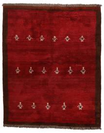 Gabbeh (Persja) Dywan 155X190 Nowoczesny Tkany Ręcznie Ciemnoczerwony/Czerwony (Wełna, Persja/Iran)