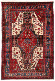 Nahawand Dywan 161X235 Orientalny Tkany Ręcznie Ciemnoczerwony (Wełna, Persja/Iran)