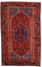 Hamadan Dywan 135X215 Orientalny Tkany Ręcznie Ciemnoczerwony/Ciemnobrązowy (Wełna, Persja/Iran)