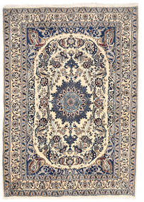 Nain Dywan 162X228 Orientalny Tkany Ręcznie Jasnoszary/Beżowy (Wełna, Persja/Iran)
