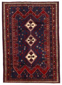 Afszar Dywan 187X264 Orientalny Tkany Ręcznie Ciemnofioletowy/Ciemnoczerwony (Wełna, Persja/Iran)