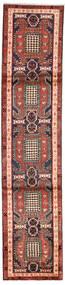 Ardabil Dywan 68X311 Orientalny Tkany Ręcznie Chodnik Ciemnobrązowy/Ciemnoczerwony (Wełna, Persja/Iran)