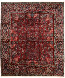 Saruk Dywan 420X485 Orientalny Tkany Ręcznie Ciemnoczerwony/Ciemnobrązowy Duży (Wełna, Persja/Iran)
