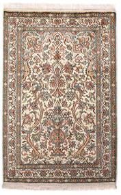 Kaszmir Czysty Jedwab Dywan 64X96 Orientalny Tkany Ręcznie Jasnoszary/Beżowy (Jedwab, Indie)