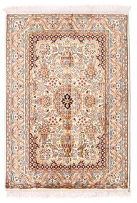 Kaszmir Czysty Jedwab Dywan 66X94 Orientalny Tkany Ręcznie Beżowy/Jasnoróżowy (Jedwab, Indie)