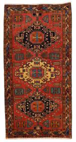 Ardabil Dywan 148X293 Orientalny Tkany Ręcznie Chodnik Ciemnobrązowy/Rdzawy/Czerwony (Wełna, Persja/Iran)
