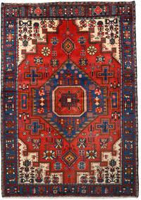 Nahawand Dywan 133X193 Orientalny Tkany Ręcznie Czarny/Ciemnoczerwony (Wełna, Persja/Iran)