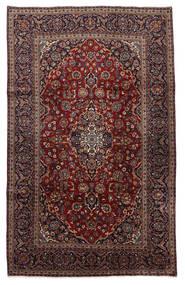 Keszan Dywan 210X326 Orientalny Tkany Ręcznie Czarny/Ciemnobrązowy (Wełna, Persja/Iran)