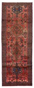 Hamadan Dywan 101X273 Orientalny Tkany Ręcznie Chodnik Ciemnoczerwony (Wełna, Persja/Iran)