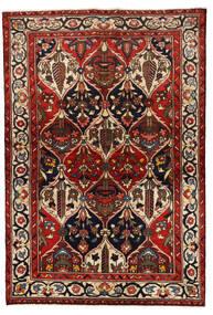 Baktjar Dywan 139X205 Orientalny Tkany Ręcznie Ciemnoczerwony/Czarny (Wełna, Persja/Iran)