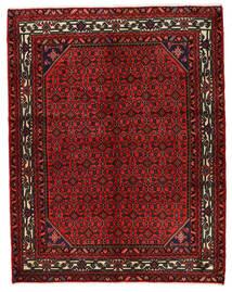 Hosseinabad Dywan 157X200 Orientalny Tkany Ręcznie Ciemnoczerwony/Ciemnobrązowy (Wełna, Persja/Iran)
