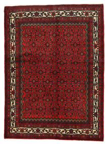 Hosseinabad Dywan 155X210 Orientalny Tkany Ręcznie Ciemnoczerwony/Ciemnobrązowy (Wełna, Persja/Iran)