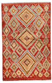 Moroccan Berber - Afghanistan Dywan 109X174 Nowoczesny Tkany Ręcznie Czerwony/Jasnobrązowy (Wełna, Afganistan)