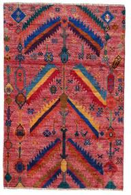 Moroccan Berber - Afghanistan Dywan 120X180 Nowoczesny Tkany Ręcznie Ciemnoczerwony/Czerwony (Wełna, Afganistan)
