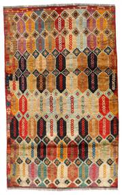 Moroccan Berber - Afghanistan Dywan 112X184 Nowoczesny Tkany Ręcznie Ciemnobrązowy/Czerwony (Wełna, Afganistan)